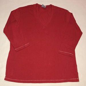 Columbia Sportwear 3/4 Sleeve V-neck T-shirt
